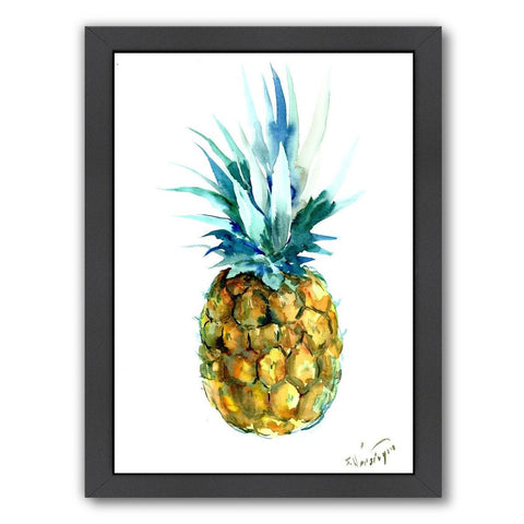 Framed Pineapple Painting Print Wall Art - GoGetGlam Boho Style