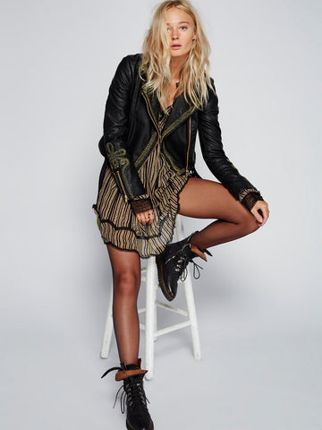 Free People Bang Bang Vegan Leather Jacket-GoGetGlam