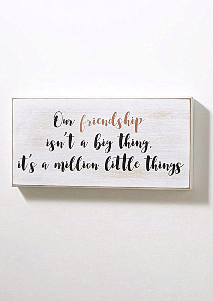 Friendship Is The Little Things Box Wall Art-GoGetGlam