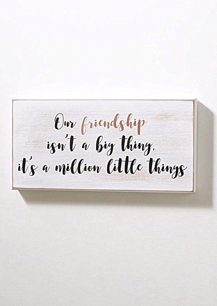 Friendship Is The Little Things Box Wall Art – GoGetGlam
