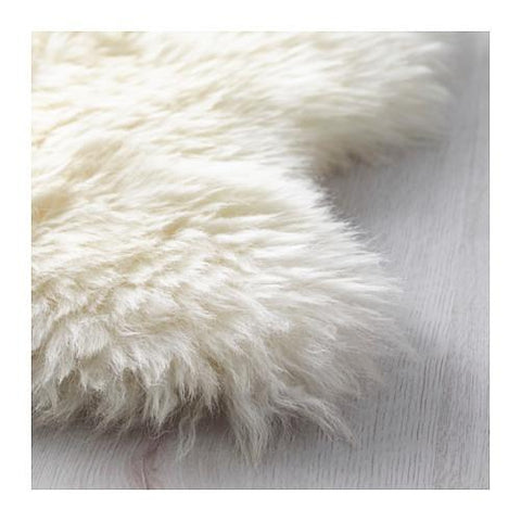 Genuine Sheep Skin White Shag Rug (3'3 x 2) - GoGetGlam Boho Style