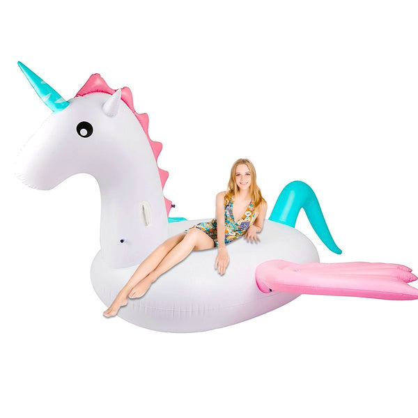 Giant 100-Inch Unicorn Pool Float + Raft-GoGetGlam