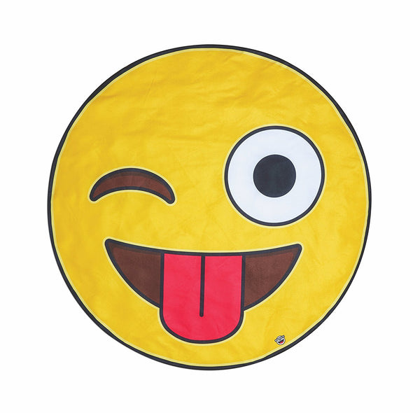 Giant Crazy Emoji Beach Blanket-GoGetGlam