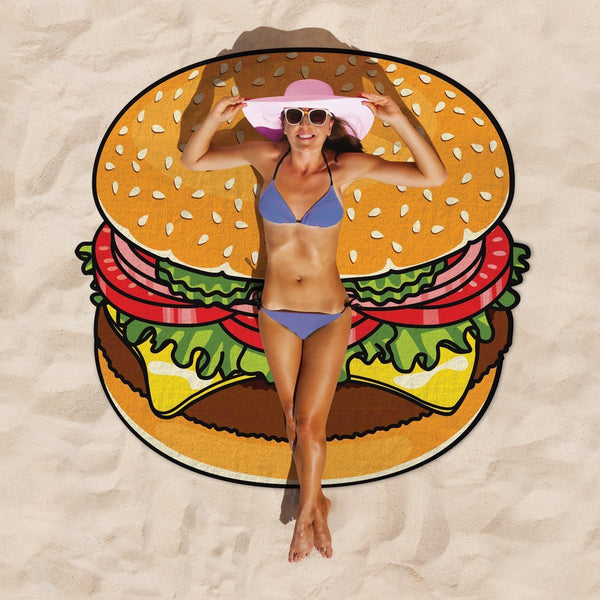 Giant Hamburger Beach Blanket-GoGetGlam