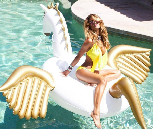 Giant Inflatable Unicorn Pegasus Pool Float - GoGetGlam Boho Style