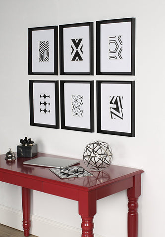 GLAM NYC 6 Piece Geometric Framed Art Wall SET - GoGetGlam Boho Style