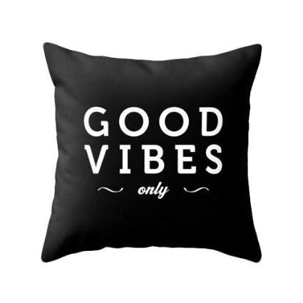 Good Vibes Only Pillow - Boho Bohemian Decor