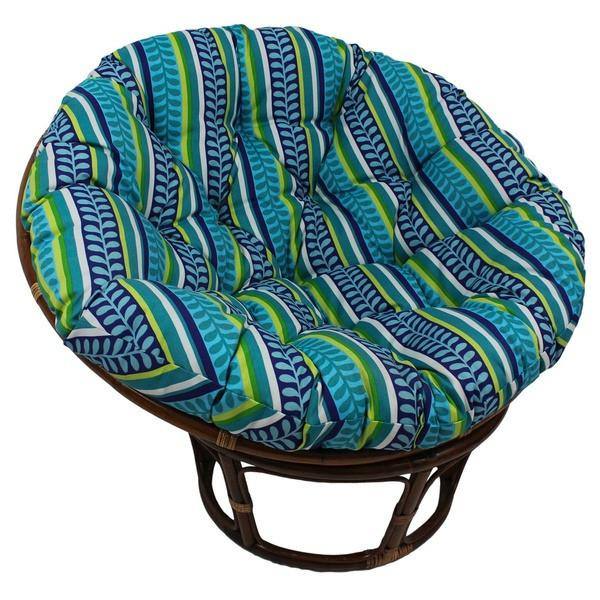 Gretta Boho Aztec Pattern Papasan Outdoor/Indoor Chair with Cushion-GoGetGlam