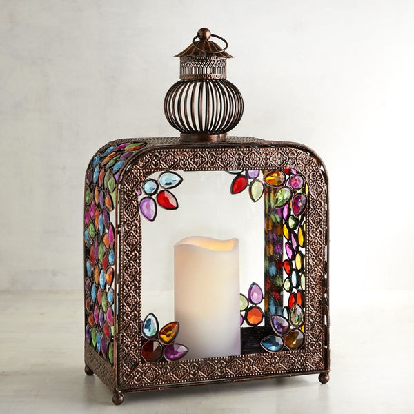 Gypsy Gem Boho Square Hanging Lantern - Boho Bohemian Decor
