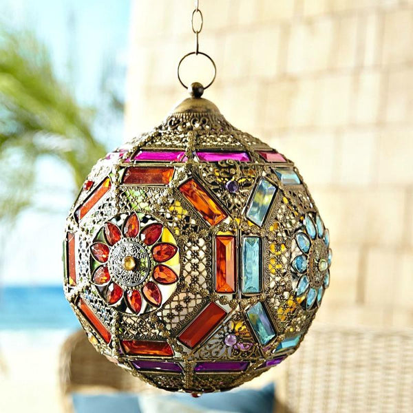 Gypsy Gem Fortune Ball Hanging Lantern - Boho Bohemian Decor