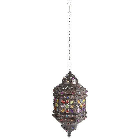 Gypsy Gem Hanging Lantern - Boho Bohemian Decor