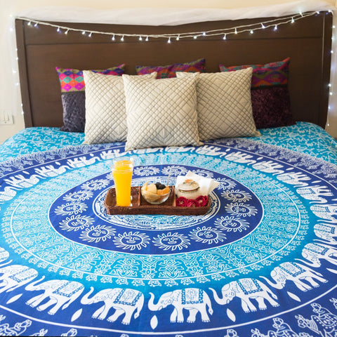 Haley Large Hippie Tapestry Mandala Bohemian Elephant Bedspread Throw-GoGetGlam
