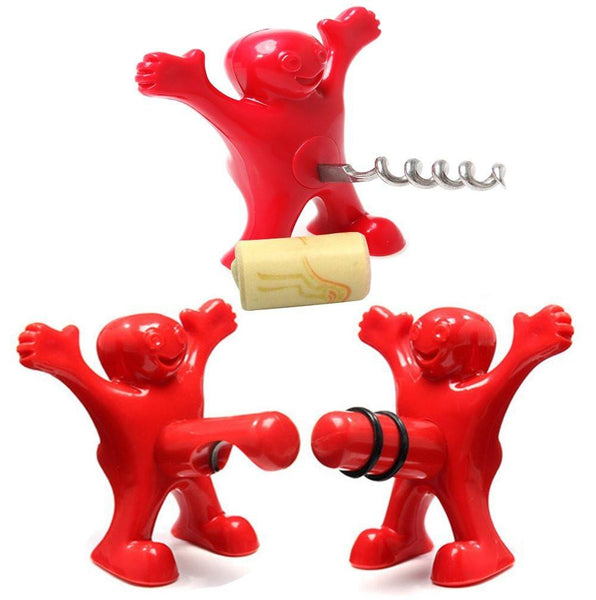 Happy Hal Stopper Corkscrew Opener SET-GoGetGlam