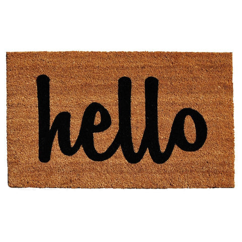 HELLO Coir Style Doormat - GoGetGlam Boho Style
