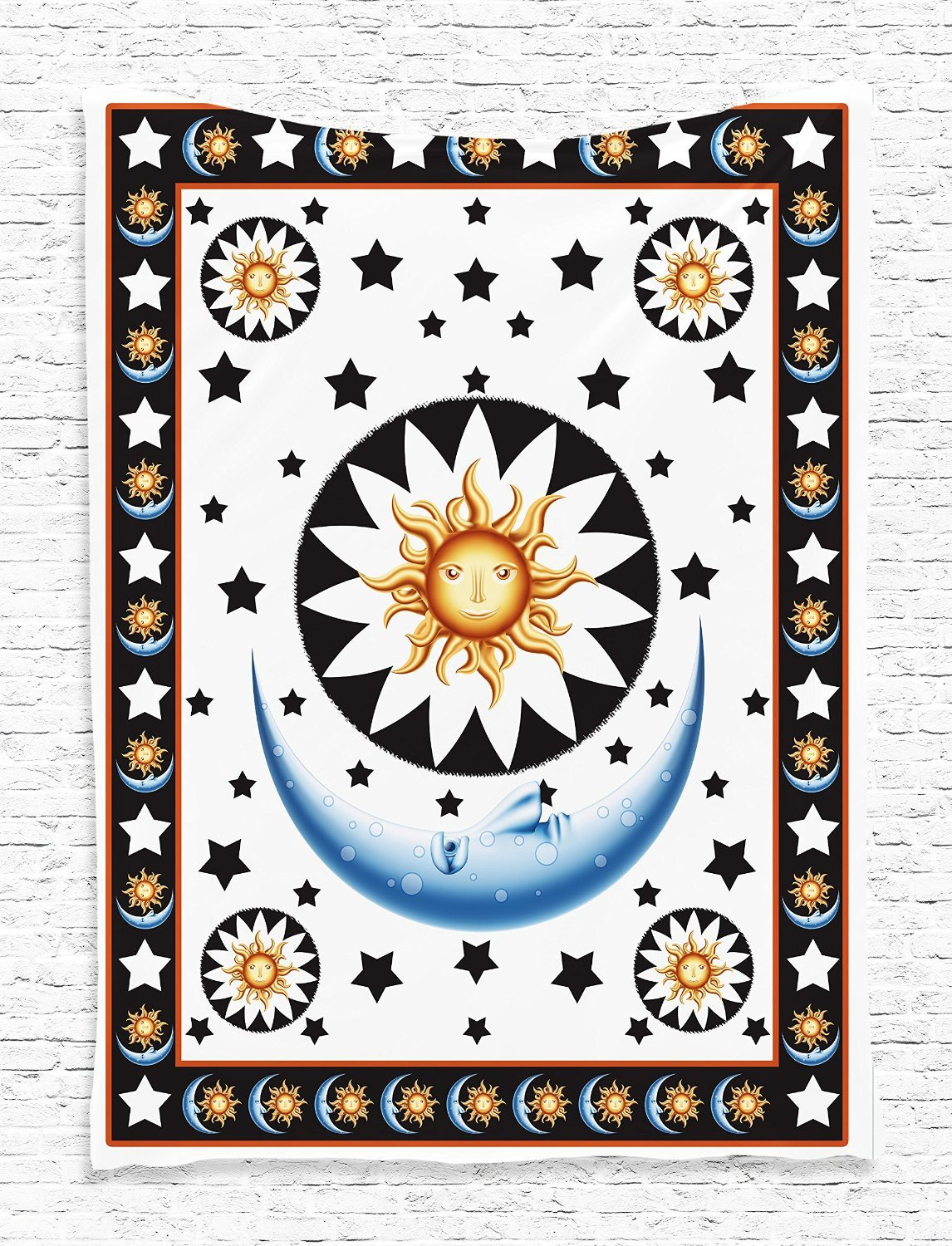 Hello Sun Goodnight Moon Wall Boho Tapestry-GoGetGlam