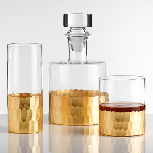 Hollywood Glam Complete Barware Glasses Decanter SET-GoGetGlam