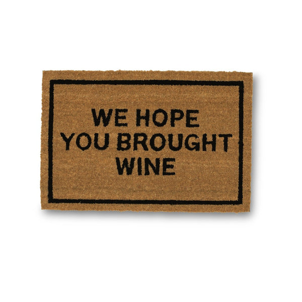 Hope You Brought Wine Coir Doormat - GoGetGlam Boho Style