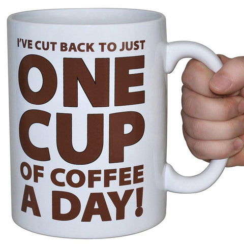 Huge 64 oz One Cup a Day Coffee Cup Mug-GoGetGlam