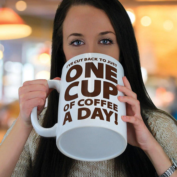 Huge 64 oz One Cup a Day Coffee Cup Mug - GoGetGlam Boho Style