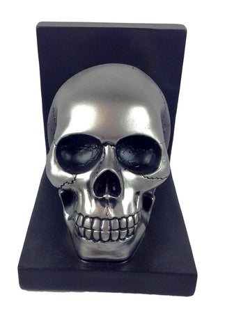 Human Silver or Gold Skull Bookend-GoGetGlam