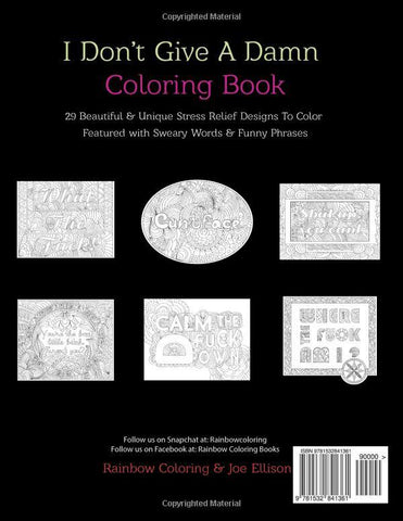 I Don't Give A Damn Adult Swear Word Coloring Book - GoGetGlam Boho Style