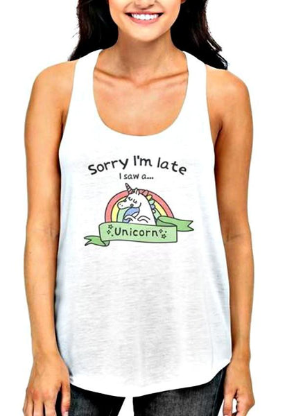 I Saw A Unicorn Tank Top-GoGetGlam