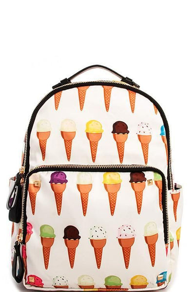 I Scream For Ice Cream Novelty Backpack - GoGetGlam Boho Style