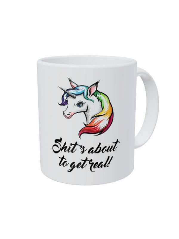 About To Get Real Unicorn Mug - GoGetGlam Boho Style