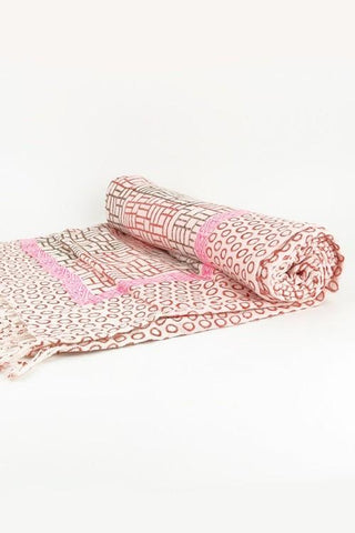 India Artisan Boho Red Beach Blanket Tapestry Throw-GoGetGlam