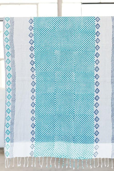 India Artisan Stamped Beach Blanket Tapestry Throw-GoGetGlam