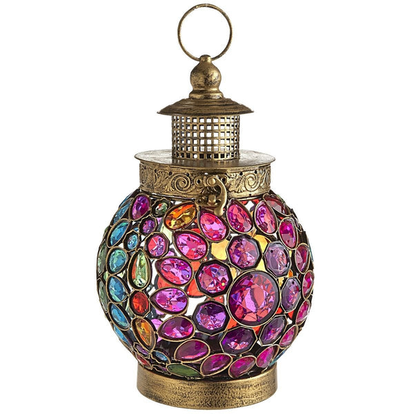 Indoor Outdoor Bohemian Jewel Hanging Lantern - Boho Bohemian Decor