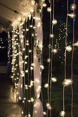 Indoor Outdoor Clear Globe LED String Lights - Boho Bohemian Decor