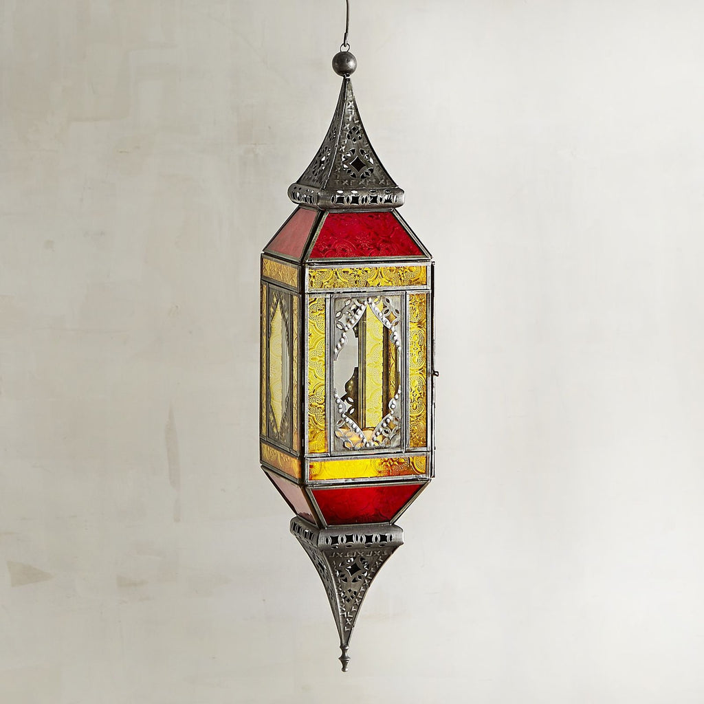 Indoor Outdoor Moroccan Boho Hanging Lantern