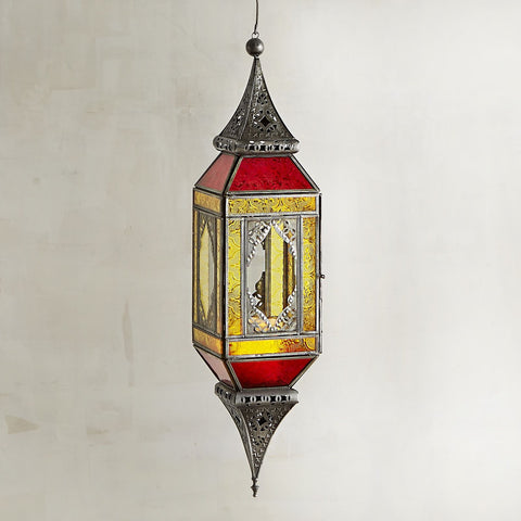Indoor Outdoor Moroccan Boho Hanging Lantern - Boho Bohemian Decor