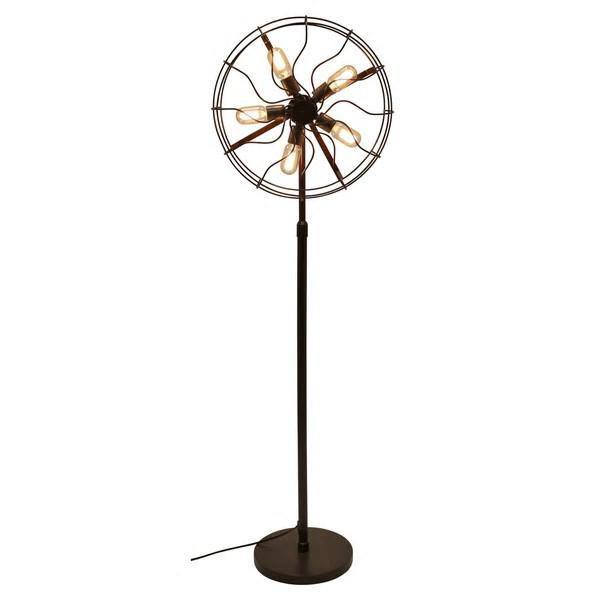 Industrial Vintage Fan Floor Lamp-GoGetGlam