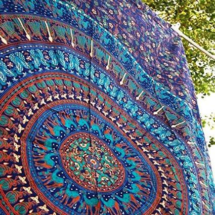 Jennica Large Hippie Tapestry Mandala Bohemian Bedspread Throw-GoGetGlam