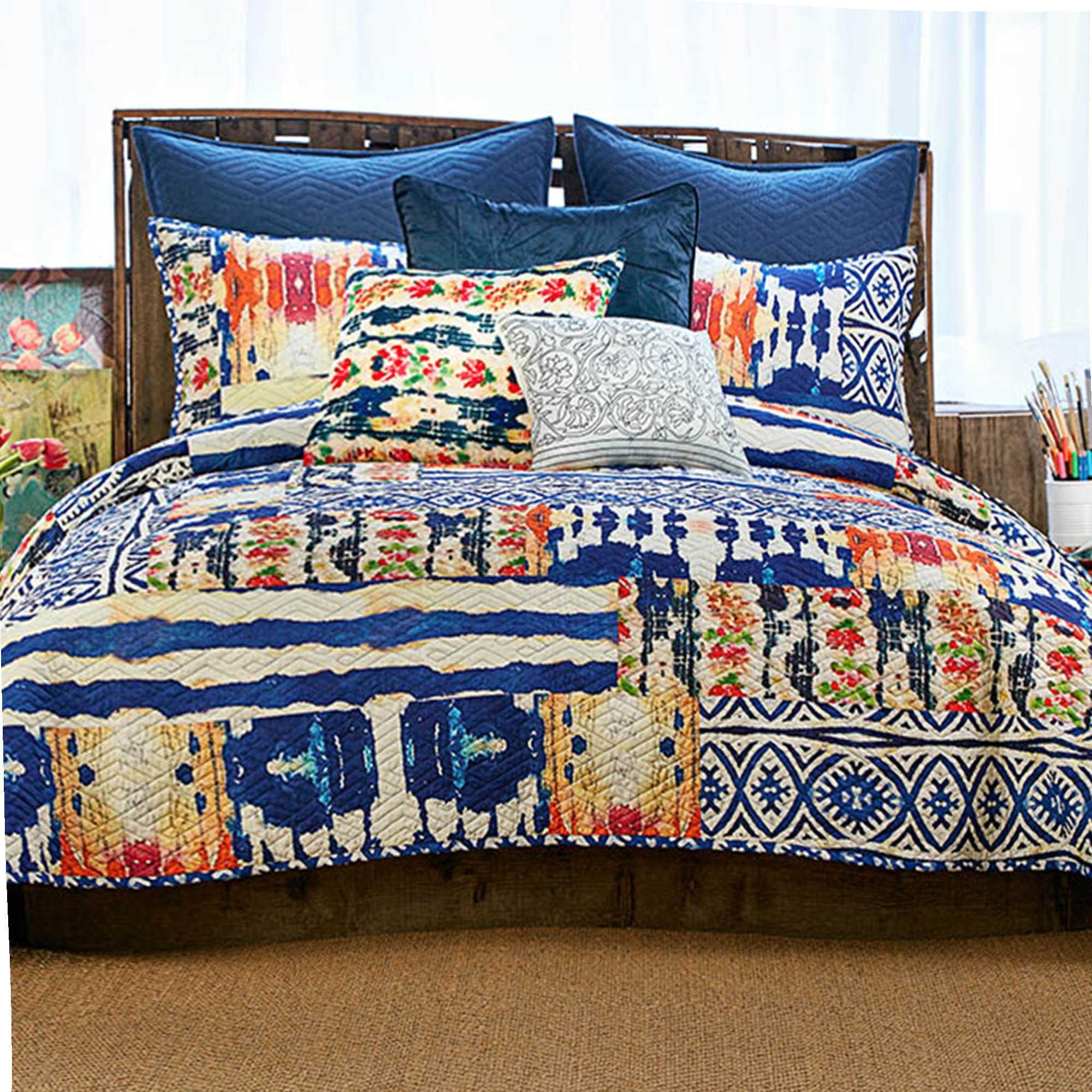 set comforter bedding better gardens reviews patchwork com homes and product walmart kids boho