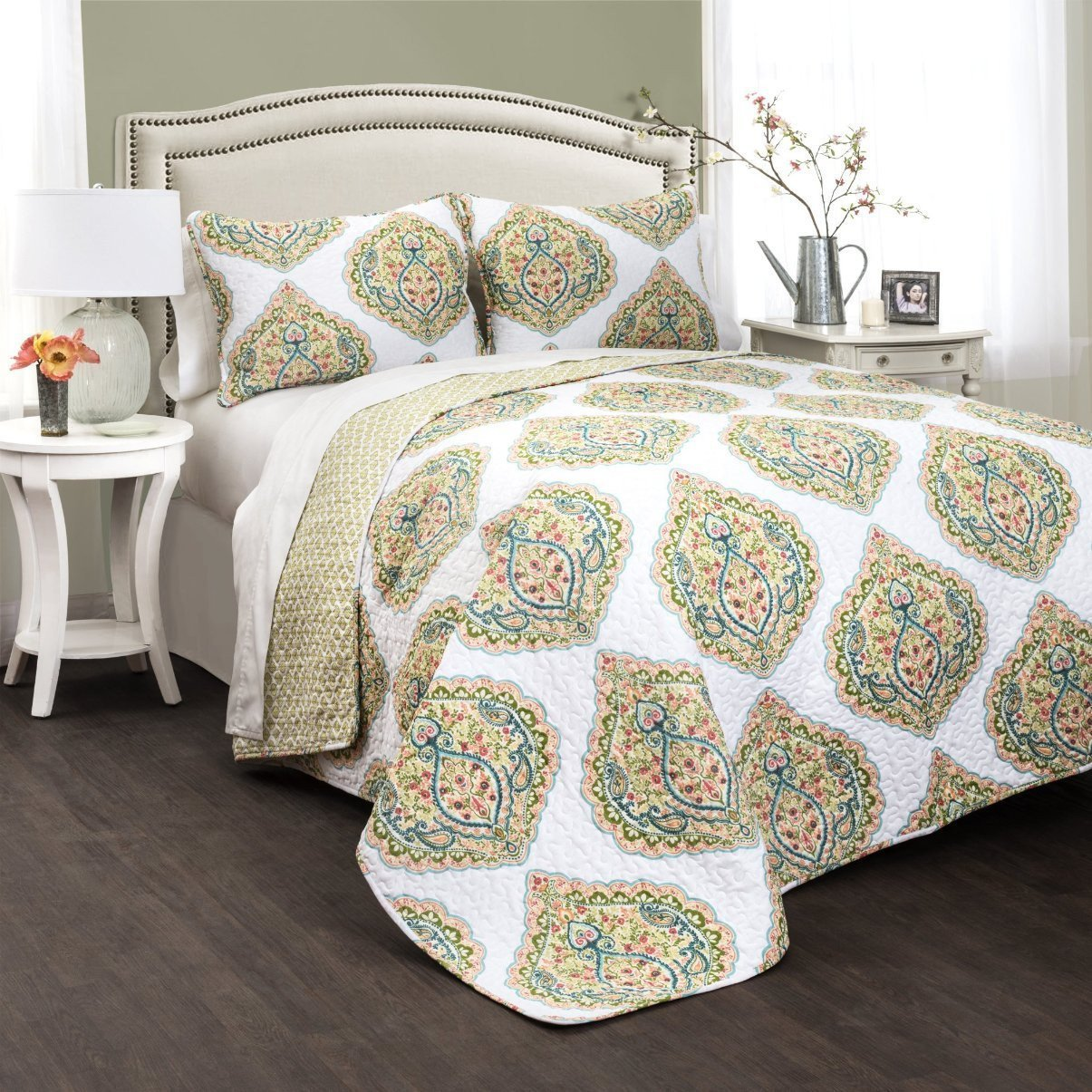 Jolie 3 PC Quilt Bedding Boho Bed Collection-GoGetGlam