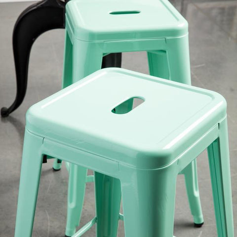 Just a Hint of Mint 24 inch Gloss Bar Stools - Set of 2 - GoGetGlam Boho Style