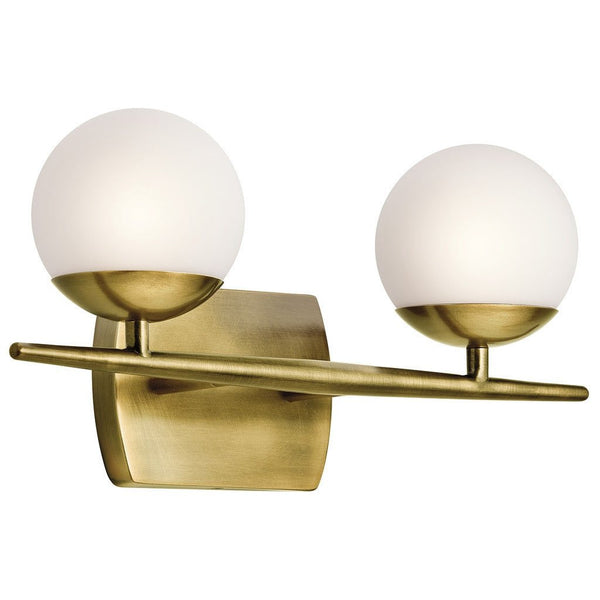 Kichler Natural Brass Vanity Light-GoGetGlam