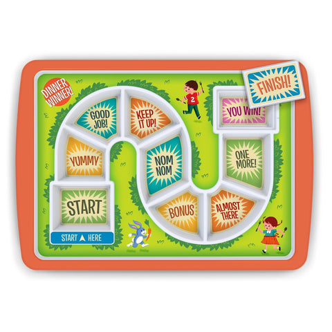 Kids Fussy Eaters Adventure Game Dinner Plate - GoGetGlam Boho Style