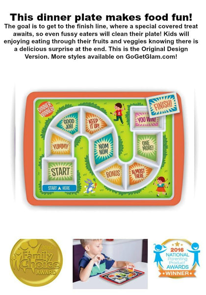 Kids Fussy Eaters Adventure Game Dinner Plate-GoGetGlam
