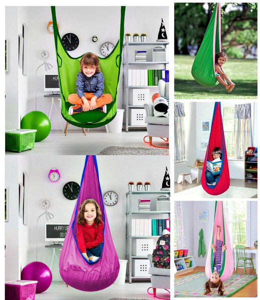 Kids Pod Hammock Hanging Reading Play Chair-GoGetGlam