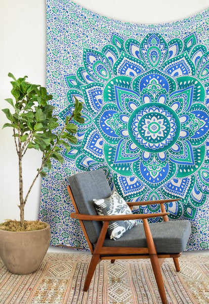 Large Hippie Tapestry Mandala Bohemian Bedspread Throw Wall Beach-GoGetGlam
