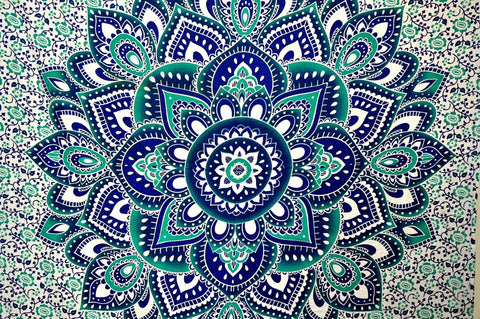 Large Hippie Tapestry Mandala Boho Bedspread Throw Wall Beach-GoGetGlam