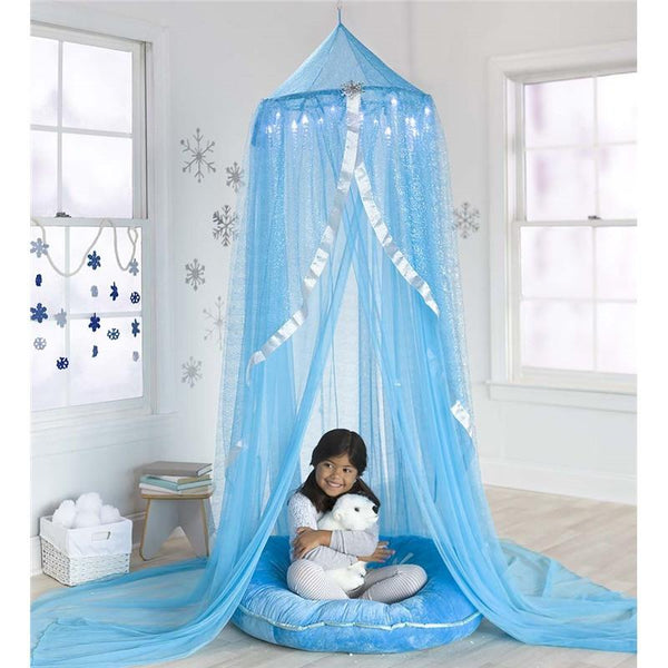 LED Light Up Icicles Frozen Snowflake Blue Canopy-GoGetGlam