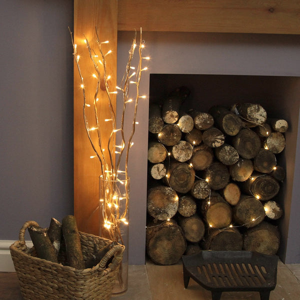 LED Lighted Natural Willow Branches - Boho Bohemian Decor