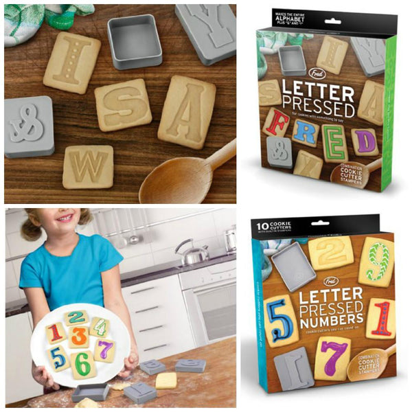 Letters & Numbers Cookie Cutter Stamp Sets - Boho Bohemian Decor