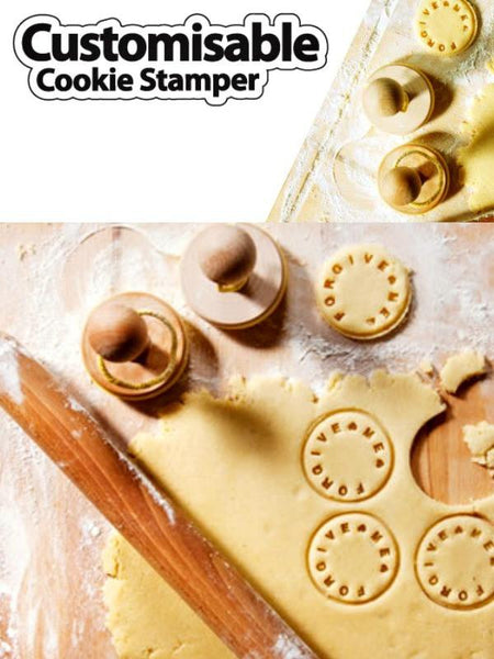 Letters & Numbers Cookie Press Stamp-GoGetGlam