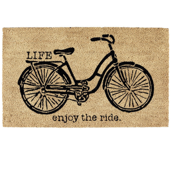 LIFE ENJOY THE RIDE Coir Style Doormat - GoGetGlam Boho Style
